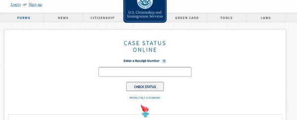 Case Status Page
