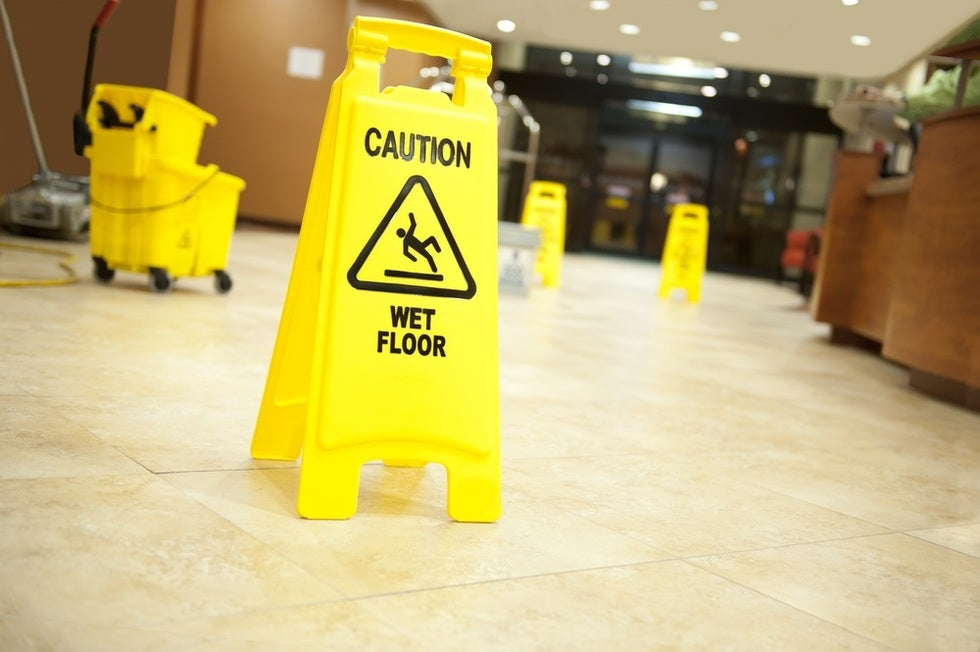"""A """"slip and fall"""" is the generic term for an injury which occurs when someone slips, trips or falls resulting from dangerous or hazardous conditions on someone else's property, such as a wet floor."""
