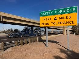 Arizona Safety Corridor Sign