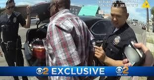 News footage of LAPD body camera video