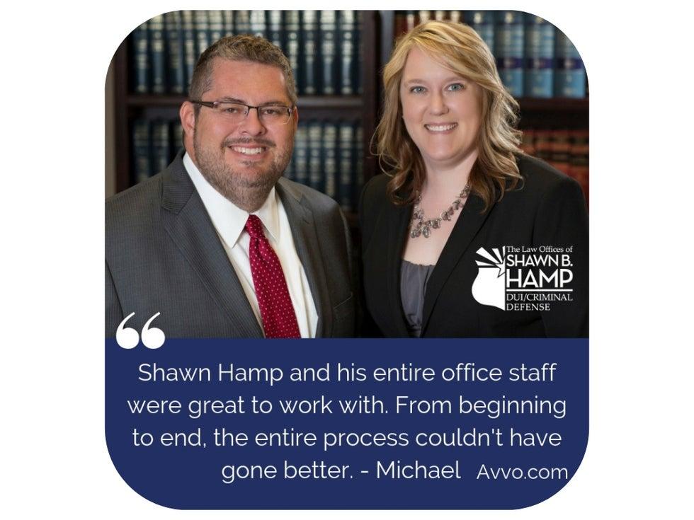 Attorney Shawn Hamp and Virginia Crews