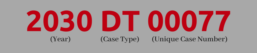 Example of a DuPage County, IL Court Case Number
