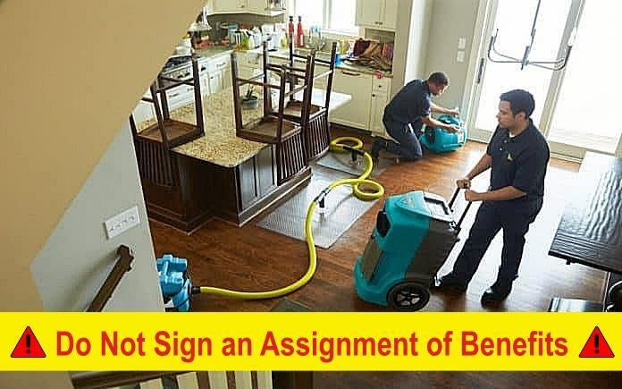 do not sign an assignment of benefits for hurricane sally repairs