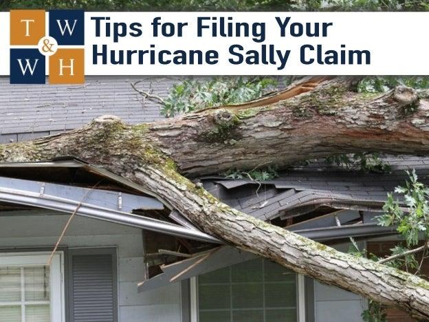 hurricane sally damage insurance claim
