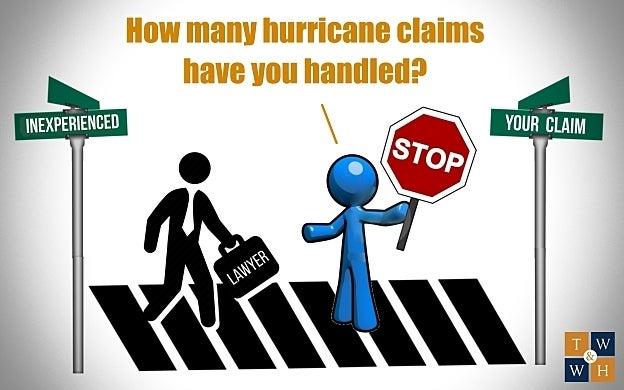 hurricane claim handling experience