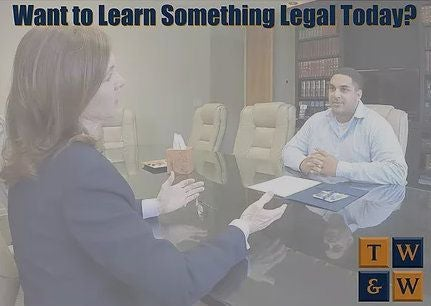 personal injury attorney talking to client about an error on his insurance application