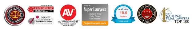 Taylor, Warren & Weidner attorney accomplishments and badges