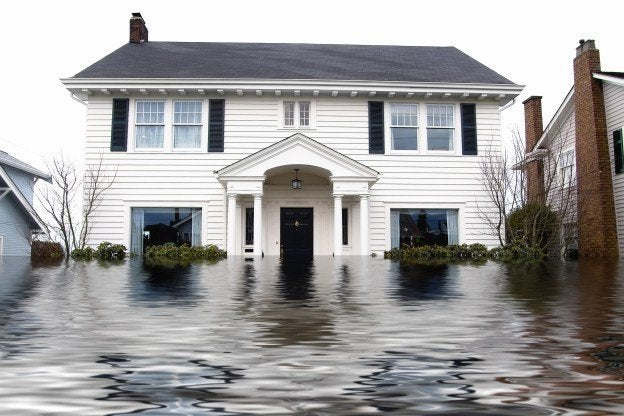 House with flood damage