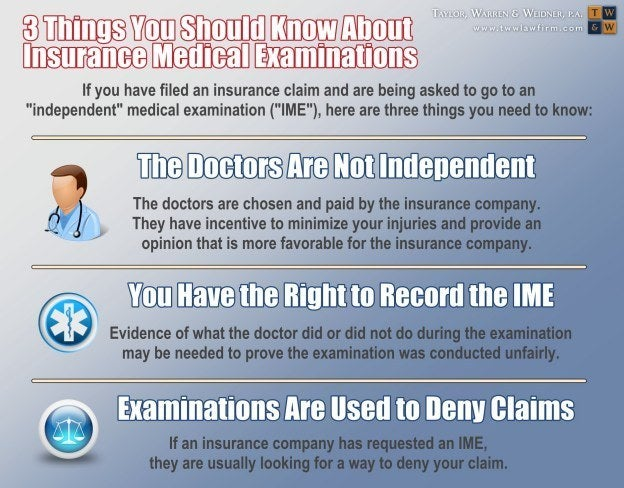 infographic on independent medical examinations by insurance companies