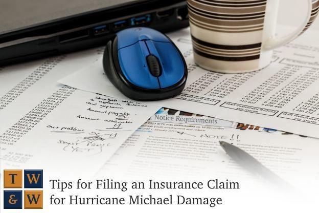 tips for filing an insurance claim for hurricane michael damage