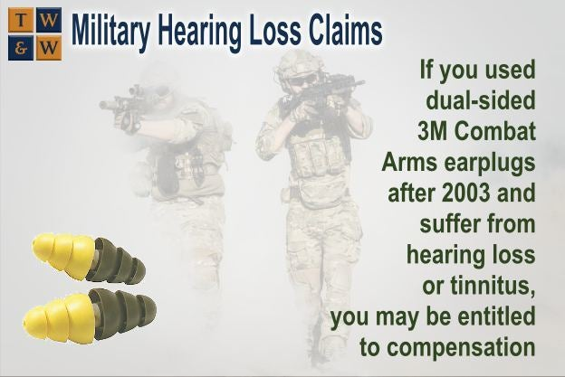military hearing loss 3m earplugs claims class action consumer rights