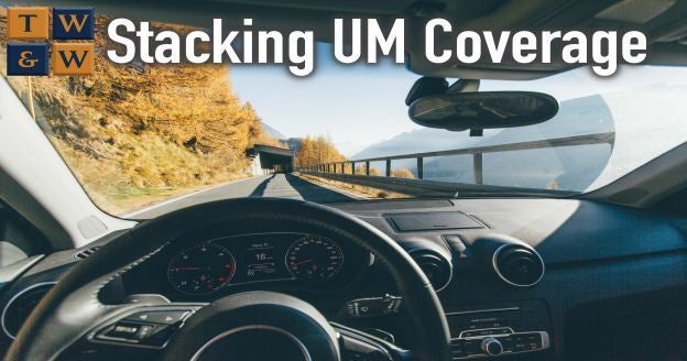stacking um coverage underinsured motorist insurance claim car accident