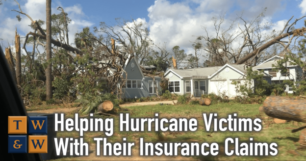helping hurricane victims with storm damage recover from the insurance company on their property damage claim