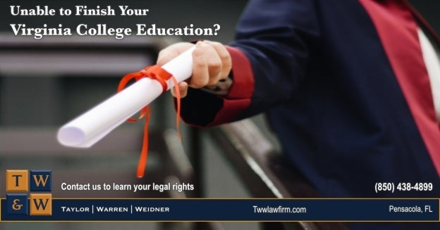 virginia college damages students unable to complete their education